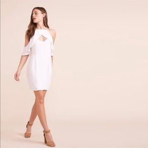 NWT BBDakota White Kaless Cold Shoulder Dress Sz 0